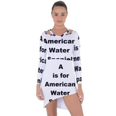 A Is For American Water Spaniel Asymmetric Cut Out Shift Dress