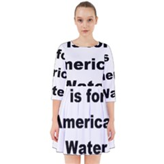 A Is For American Water Spaniel Smock Dress