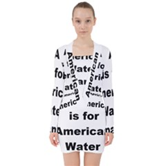 A Is For American Water Spaniel V Neck Bodycon Long Sleeve Dress