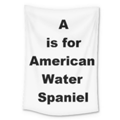 A Is For American Water Spaniel Large Tapestry
