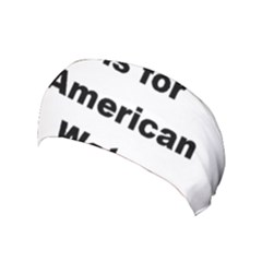 A Is For American Water Spaniel Yoga Headband