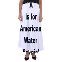 A Is For American Water Spaniel Flared Maxi Skirt