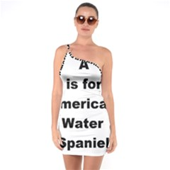 A Is For American Water Spaniel One Soulder Bodycon Dress