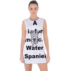 A Is For American Water Spaniel Lace Up Front Bodycon Dress