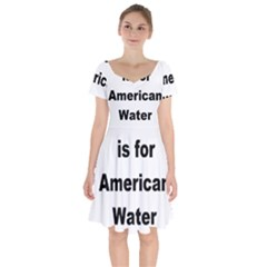 A Is For American Water Spaniel Short Sleeve Bardot Dress