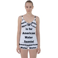 A Is For American Water Spaniel Tie Front Two Piece Tankini