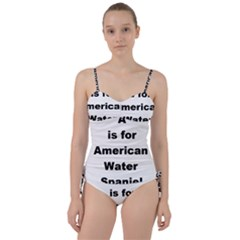 A Is For American Water Spaniel Sweetheart Tankini Set