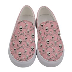 Light Pink Xo Skulls Women s Canvas Slip Ons