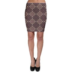 Oriental Pattern Bodycon Skirt