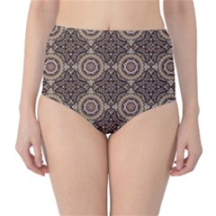 Oriental Pattern High Waist Bikini Bottoms