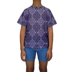 Oriental Pattern Kids  Short Sleeve Swimwear