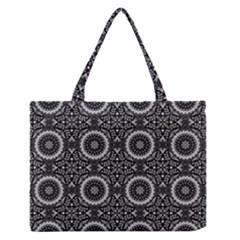 Oriental Pattern Zipper Medium Tote Bag