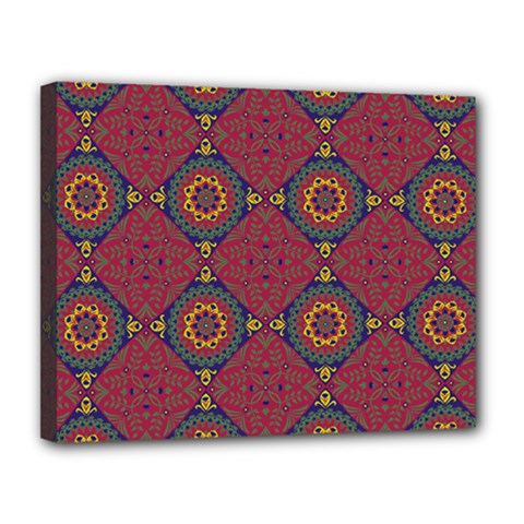 Oriental Pattern Canvas 14  X 11