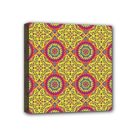 Oriental Pattern Mini Canvas 4  X 4