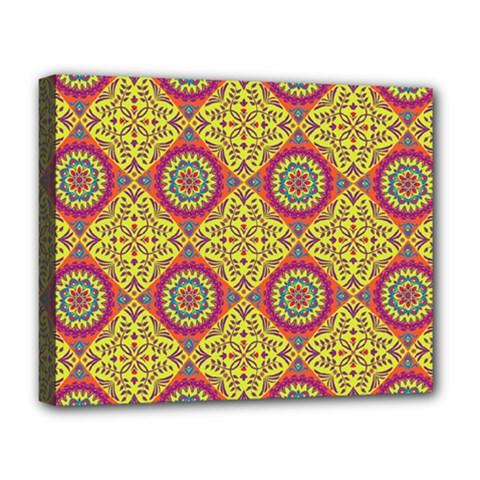 Oriental Pattern Deluxe Canvas 20  X 16