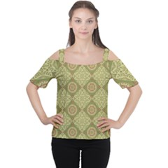 Oriental Pattern Cutout Shoulder Tee