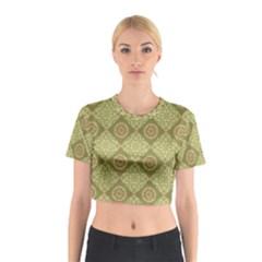 Oriental Pattern Cotton Crop Top