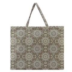 Oriental Pattern Zipper Large Tote Bag