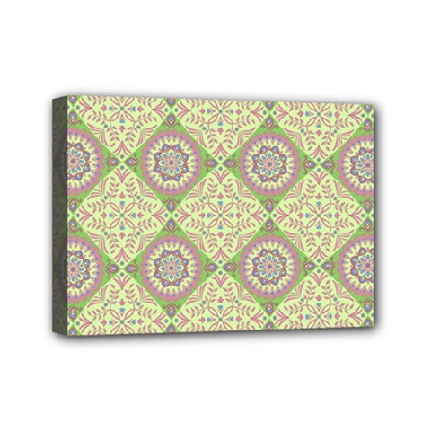 Oriental Pattern Mini Canvas 7  X 5