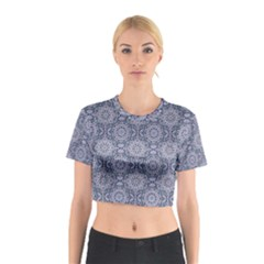 Oriental Pattern Cotton Crop Top