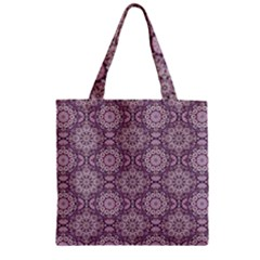 Oriental Pattern Zipper Grocery Tote Bag