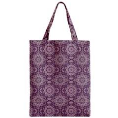 Oriental Pattern Zipper Classic Tote Bag