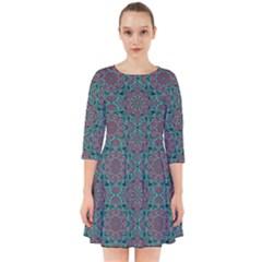 Oriental Pattern Smock Dress
