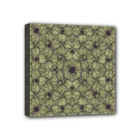Stylized Modern Floral Design Mini Canvas 4  X 4