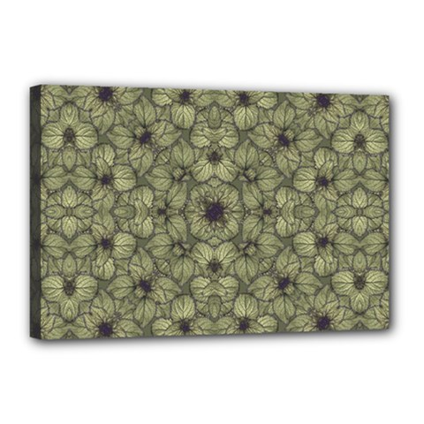 Stylized Modern Floral Design Canvas 18  X 12