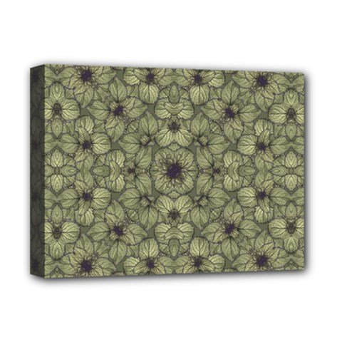 Stylized Modern Floral Design Deluxe Canvas 16  X 12
