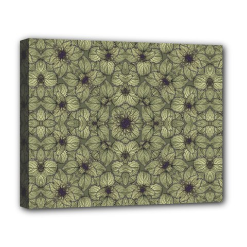 Stylized Modern Floral Design Deluxe Canvas 20  X 16