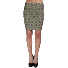 Stylized Modern Floral Design Bodycon Skirt