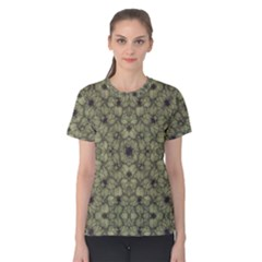 Stylized Modern Floral Design Women s Cotton Tee