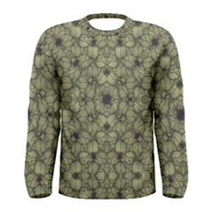 Stylized Modern Floral Design Men s Long Sleeve Tee