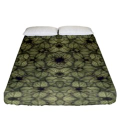 Stylized Modern Floral Design Fitted Sheet (king Size)