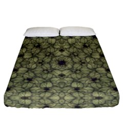 Stylized Modern Floral Design Fitted Sheet (california King Size)