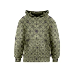 Stylized Modern Floral Design Kids  Pullover Hoodie