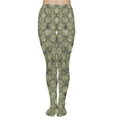 Stylized Modern Floral Design Women s Tights