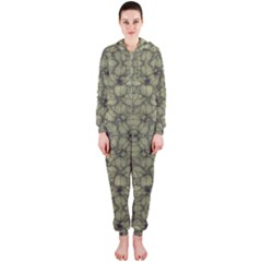Stylized Modern Floral Design Hooded Jumpsuit (ladies)