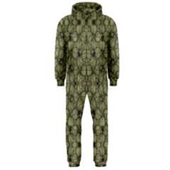Stylized Modern Floral Design Hooded Jumpsuit (men)