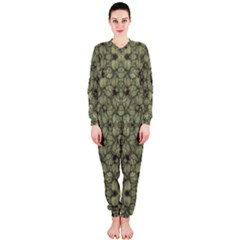 Stylized Modern Floral Design Onepiece Jumpsuit (ladies)