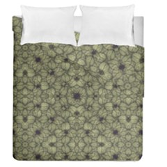 Stylized Modern Floral Design Duvet Cover Double Side (queen Size)