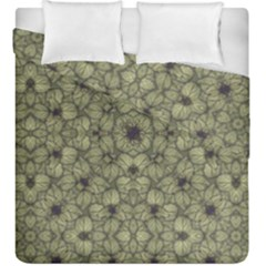 Stylized Modern Floral Design Duvet Cover Double Side (king Size)