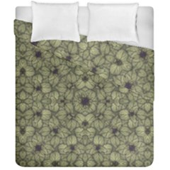 Stylized Modern Floral Design Duvet Cover Double Side (california King Size)