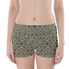 Stylized Modern Floral Design Boyleg Bikini Wrap Bottoms