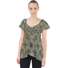 Stylized Modern Floral Design Dolly Top