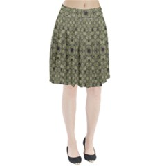 Stylized Modern Floral Design Pleated Skirt