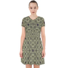 Stylized Modern Floral Design Adorable In Chiffon Dress