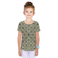 Stylized Modern Floral Design Kids  One Piece Tee