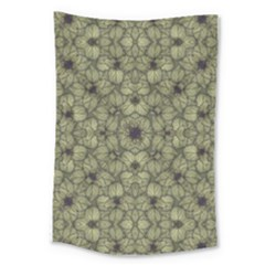 Stylized Modern Floral Design Large Tapestry